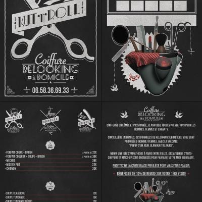 2013, logo, flyer, dépliant Jessy Kut'n'Roll
