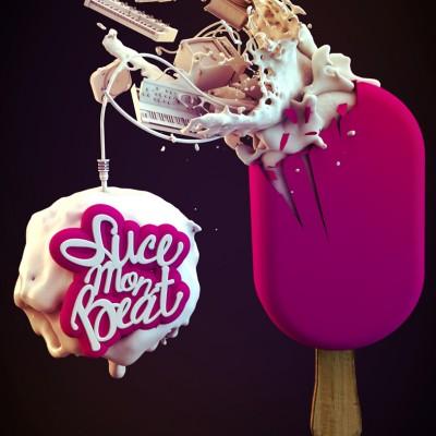 2012, logo typo et 3d pour suce mon Beat