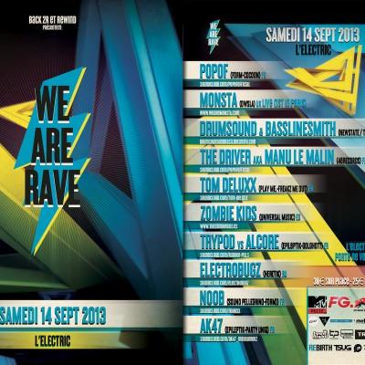 2013, flyer recto verso Techno Parade