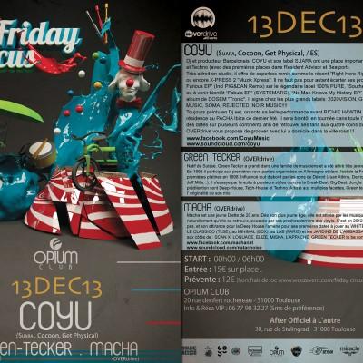 2013, flyer recto verso Friday 02