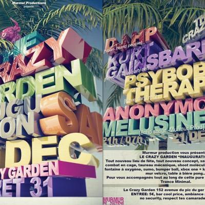 2013, flyer recto verso Garden Party