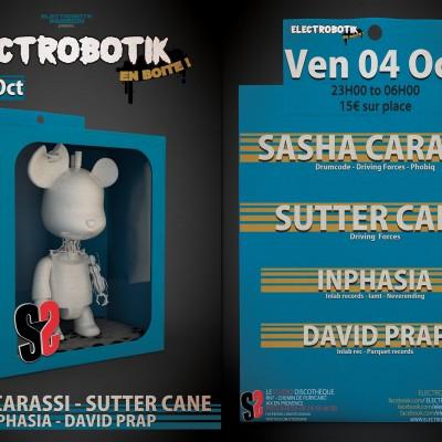2013, Flyer recto ElectroBotik en Boite