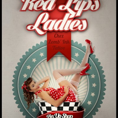 2013, flyer  Red Lips Ladies