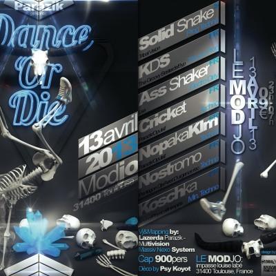 2013, flyer recto verso Dance Or Die