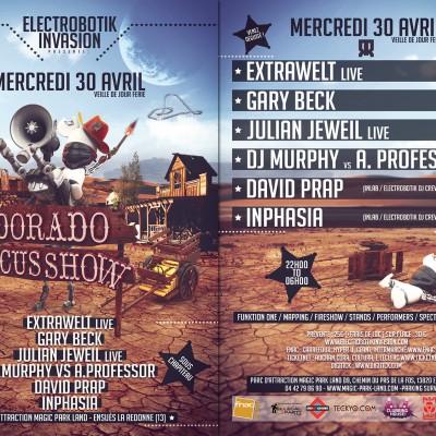 2014, flyer pour Electrobotik, El Dorado