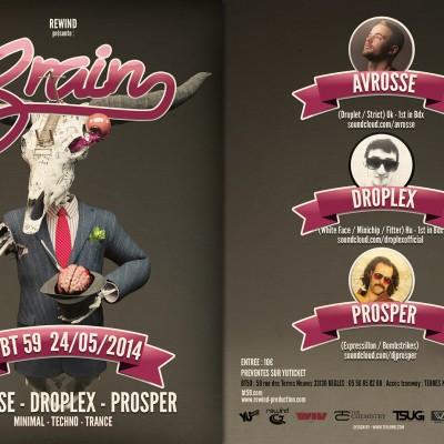 2014, flyer recto verso pour Rewind