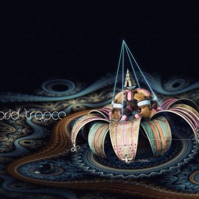 2014, 3d flower mandala pour World Trance