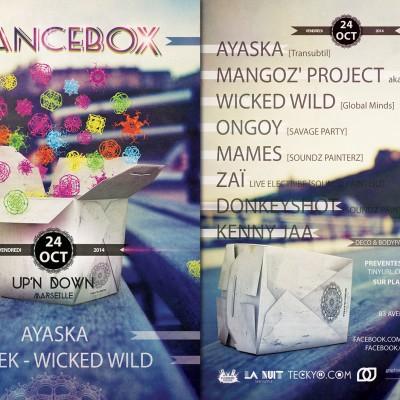 2014,flyer recto verso pour TranceBox