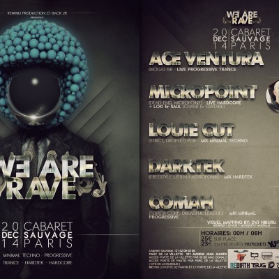 2014, flyer recto verso pour We Are Rave