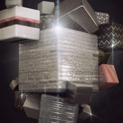 2014, abstract cube, tealanb