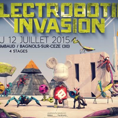 2015, graphisme flyer Electrobotik Invasion Festival 2015