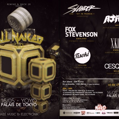 2015, flyer recto verso pour All Naked 3,